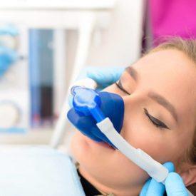 Woman Inhalation Sedation Dentist
