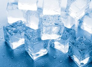 chewing ice