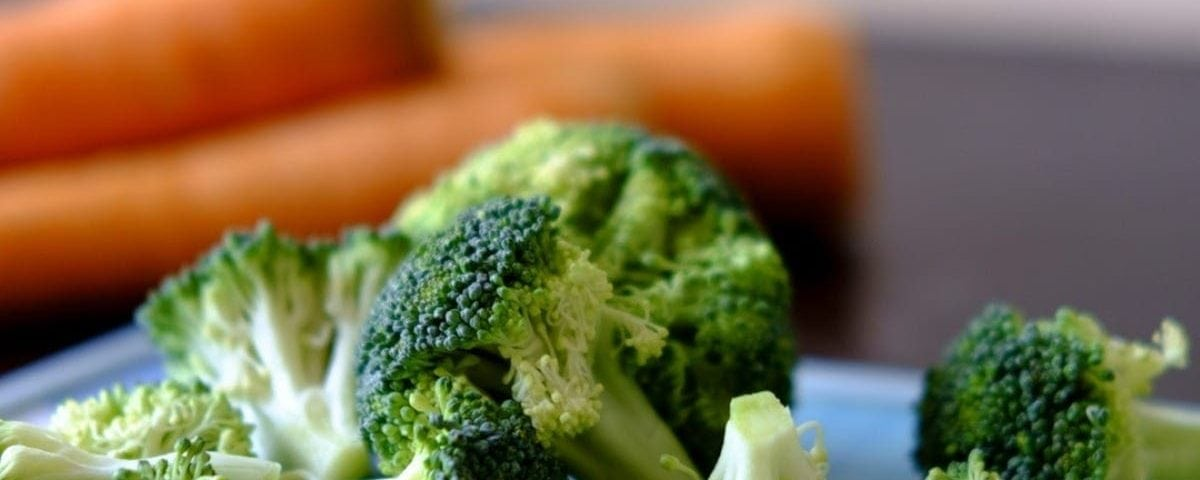 Plate of broccoli for dental recovery